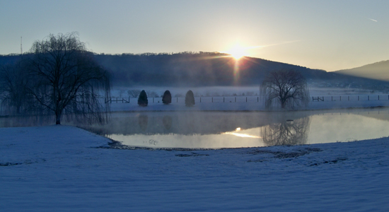 Sunrise over Jones Valley, Huntsville, AL January 2011